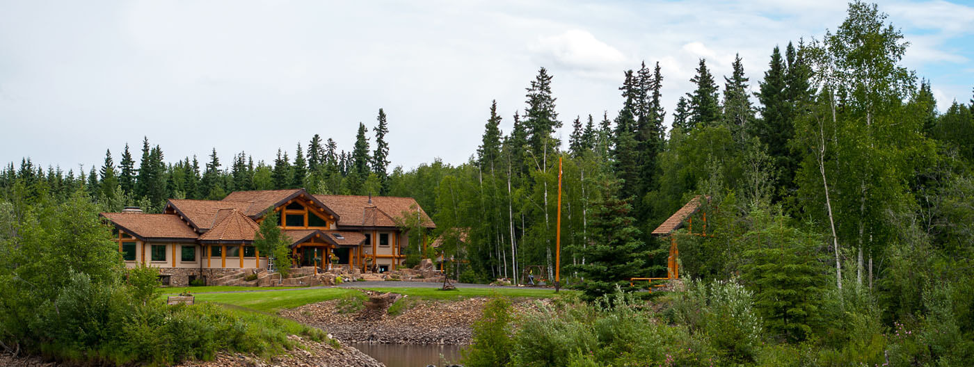 Luxury custom built log home