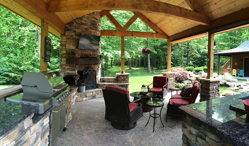 Luxury Outdoor Kitchen Hidden Valley Log Homes